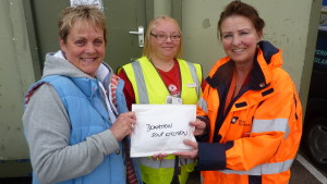 Receiving DFDS donation